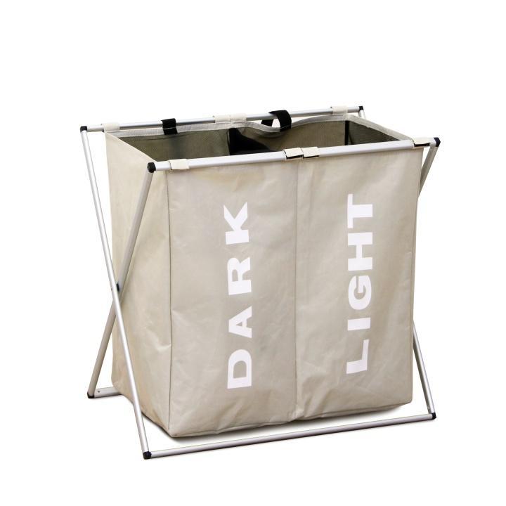 Laundry szennyeskosár kétfakkos szürke/krém