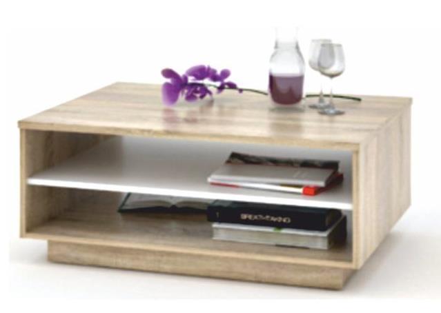 Vavro New sonoma-fehér dohányzóasztal
