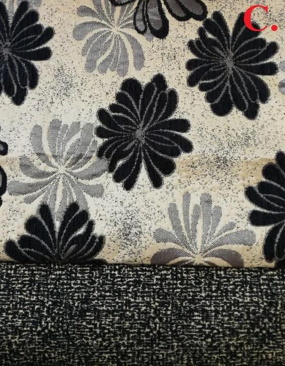 Fekete-virágmintás